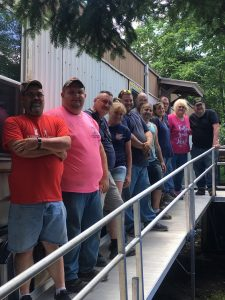 Operation Mazzarella, 50 ft of Handicap ramp installed for Vietnam Veteran.